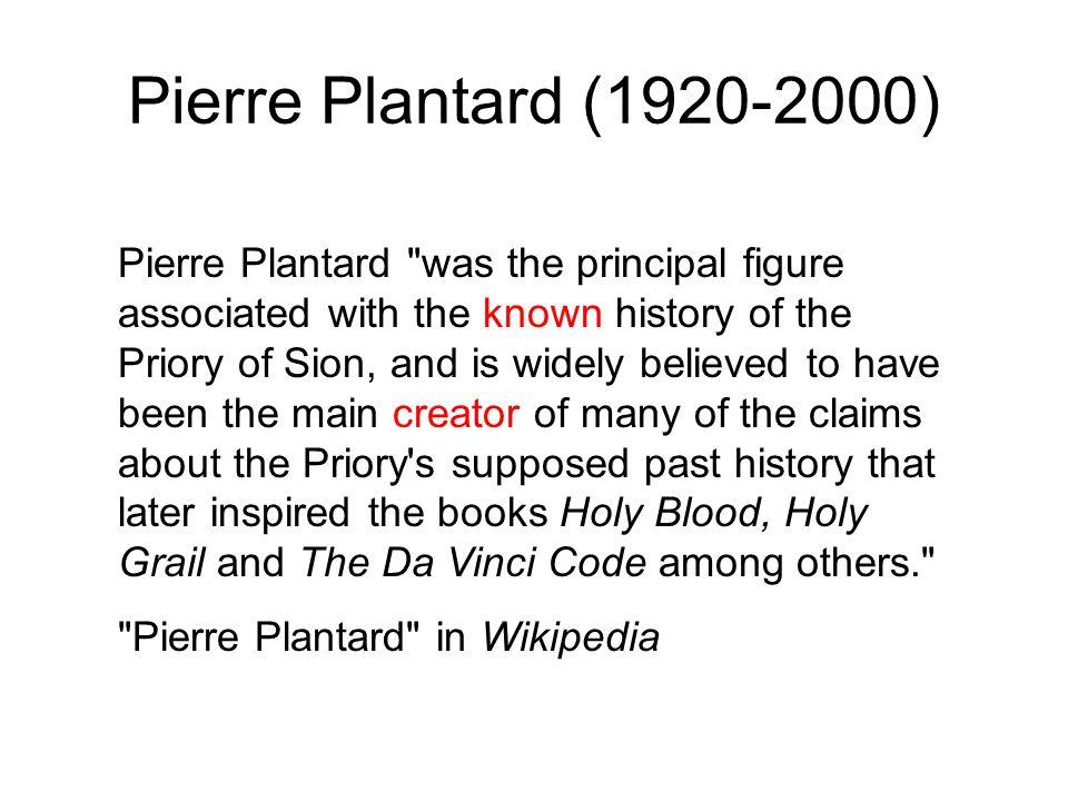Pierre Plantard (1920-2000)