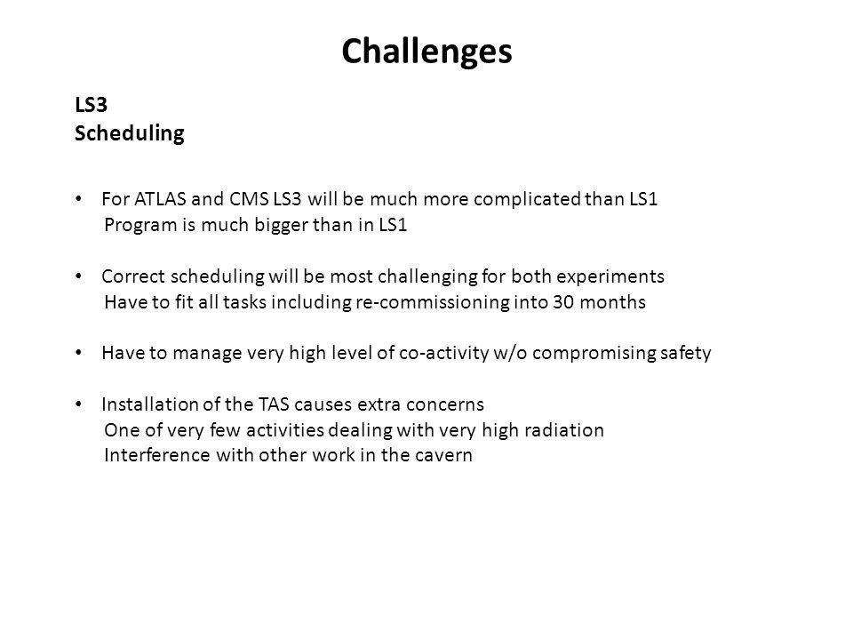 Challenges LS3 Scheduling