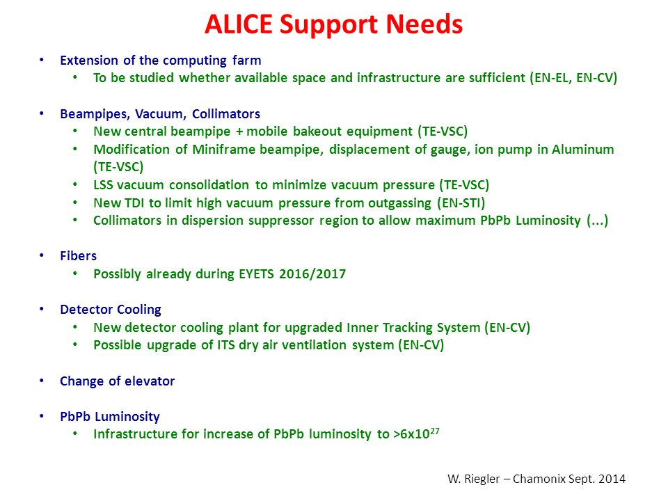 ALICE Support Needs Extension of the computing farm