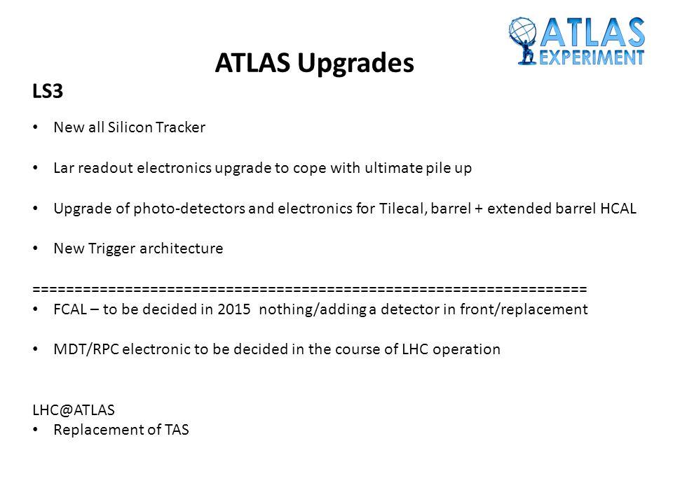 ATLAS Upgrades LS3 New all Silicon Tracker
