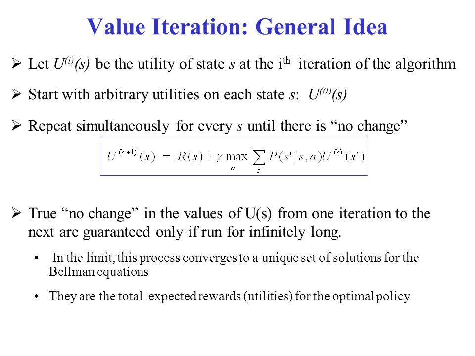 Value Iteration: General Idea