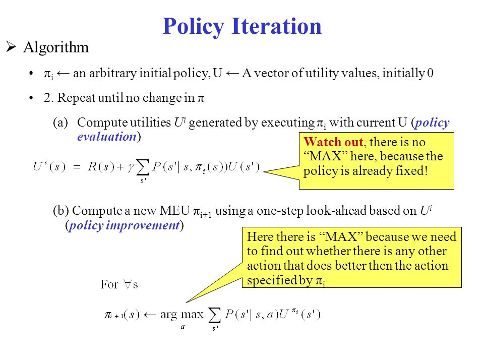 Policy Iteration Algorithm