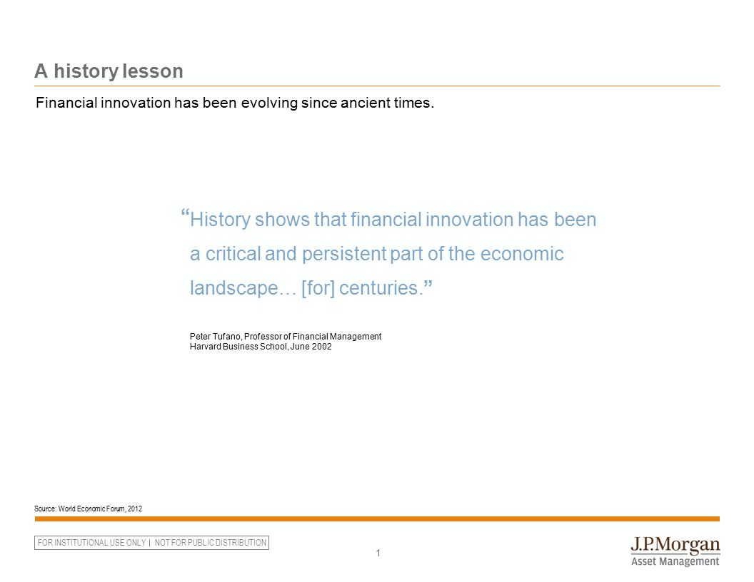 A history lesson Financial innovation has been evolving since ancient times. 9000 BC onward. 5000 BC.