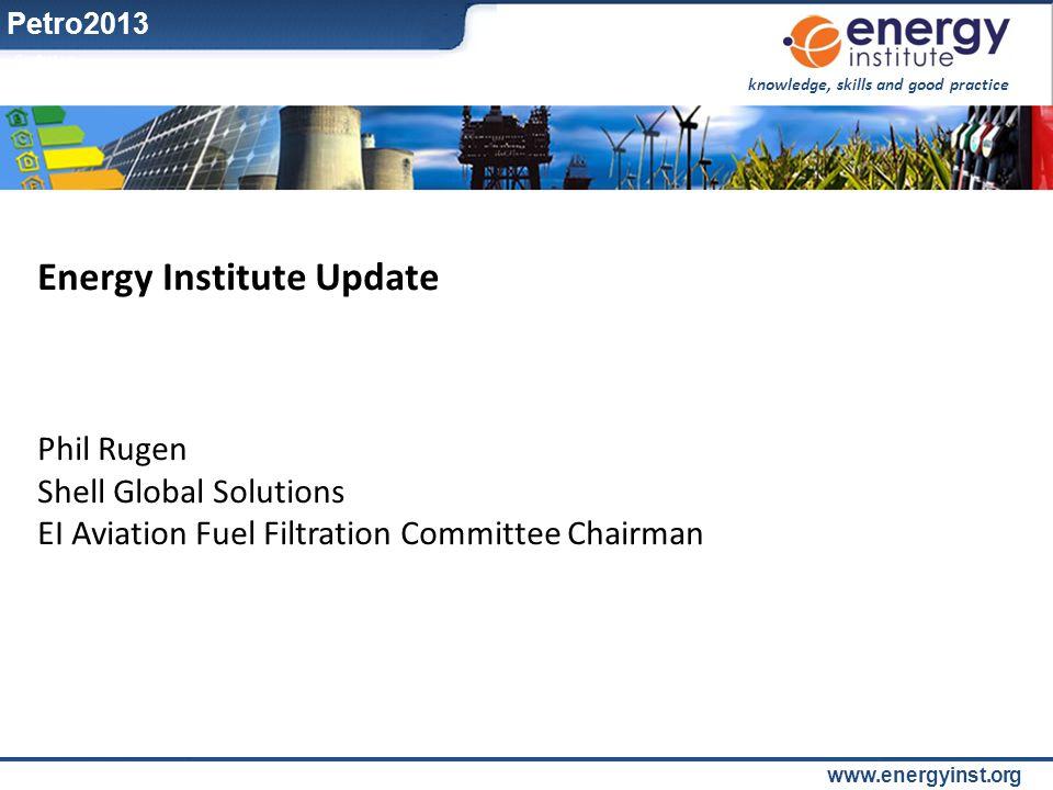 Energy Institute Update