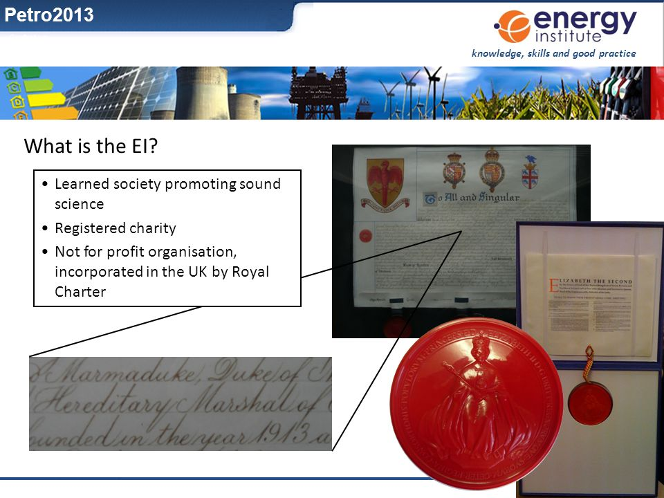 What is the EI Petro2013 Learned society promoting sound science