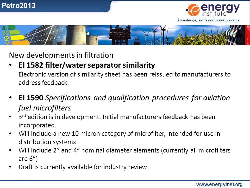 New developments in filtration