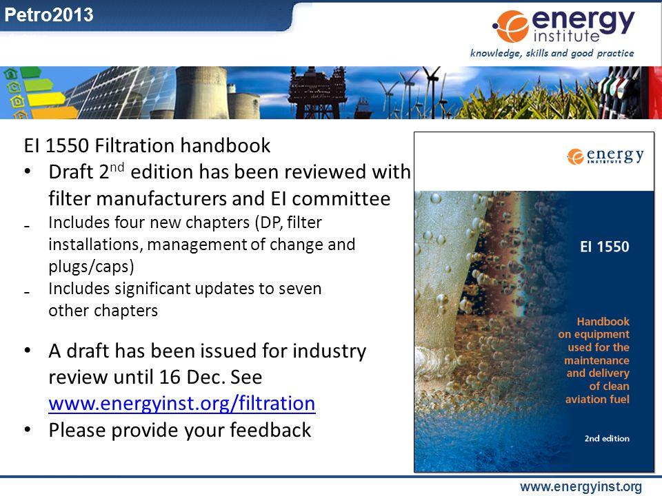 EI 1550 Filtration handbook