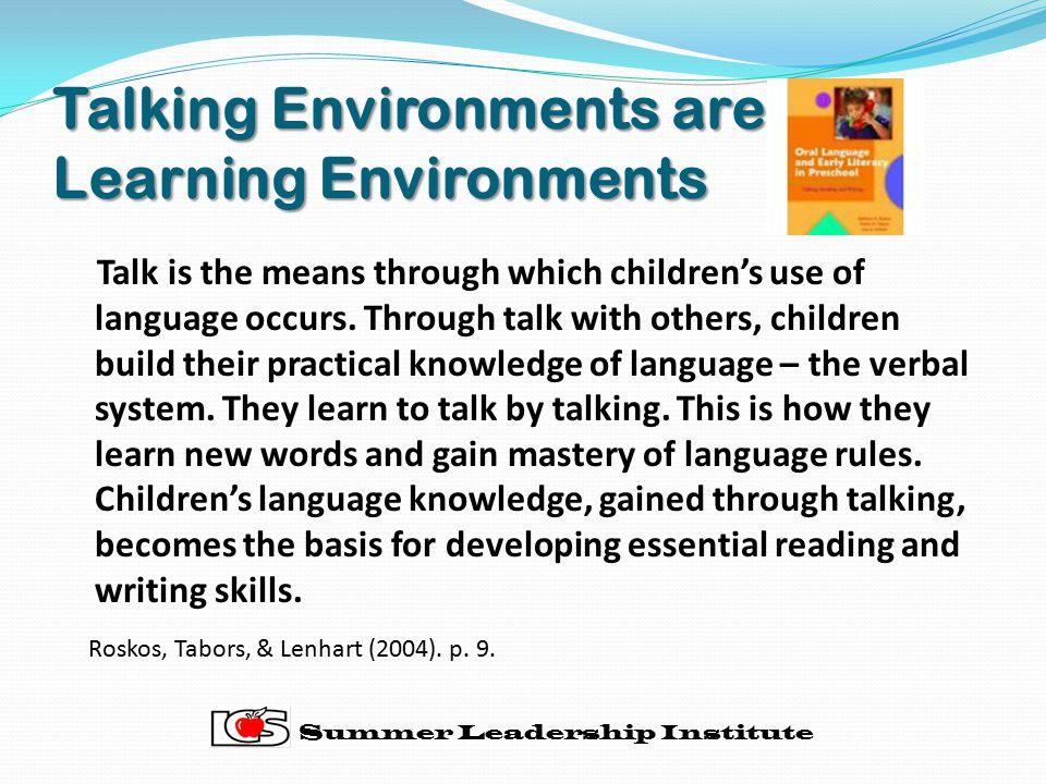 Talking Environments are Learning Environments