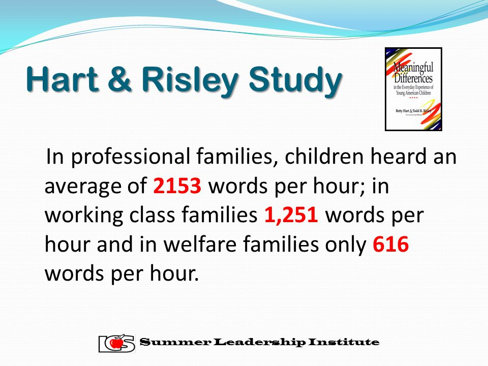 Hart & Risley Study