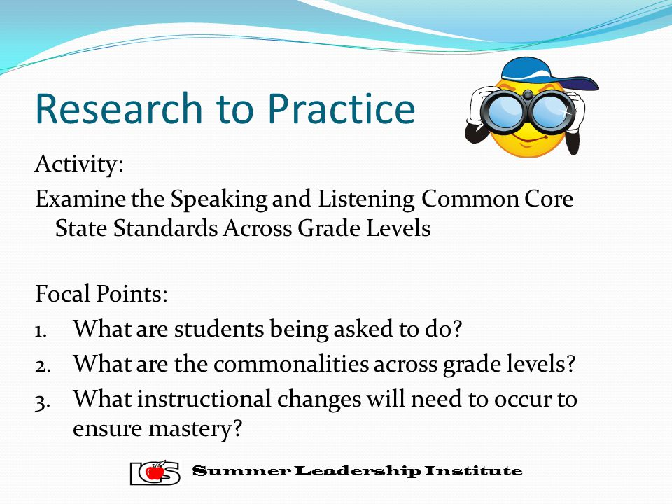 Research to Practice Activity:
