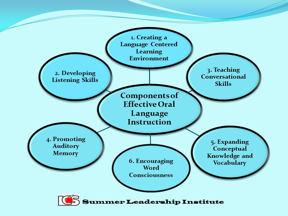Components of Effective Oral Language Instruction