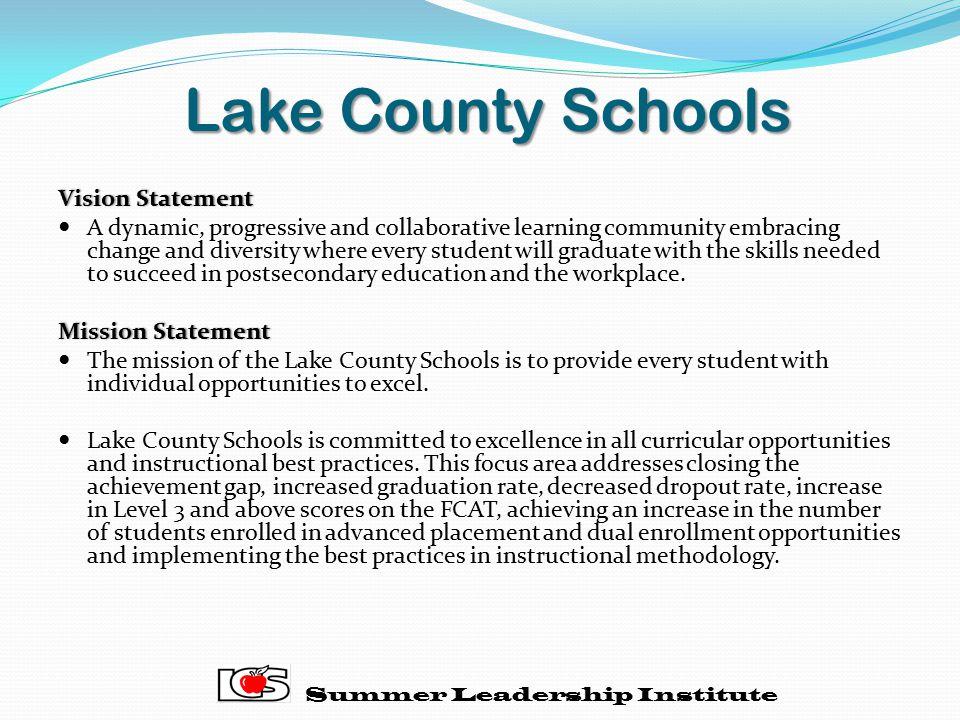 Lake County Schools Vision Statement