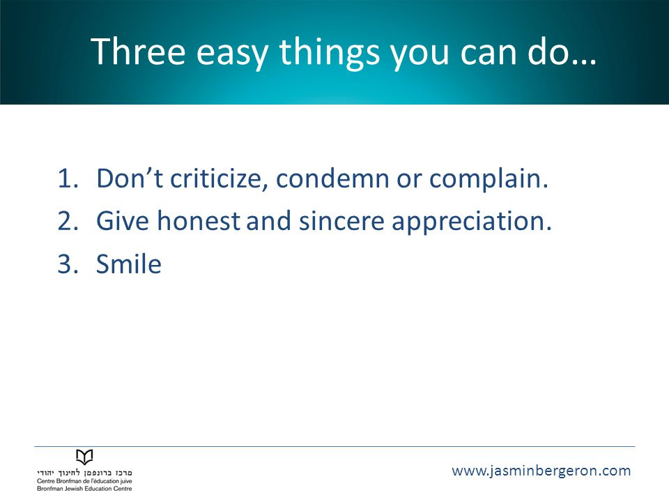 Three easy things you can do…