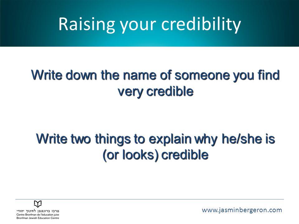Raising your credibility