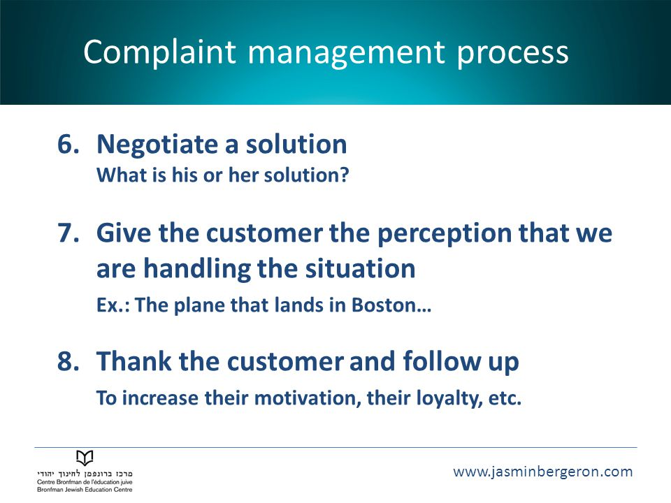 Complaint management process