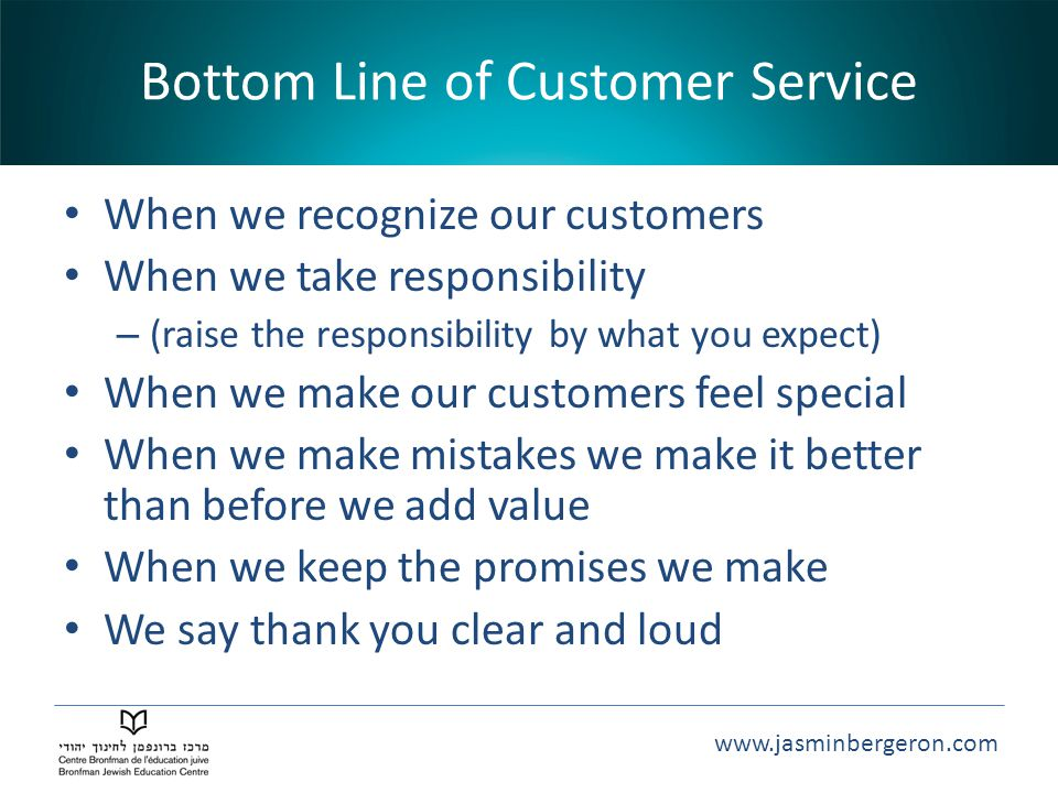 Bottom Line of Customer Service