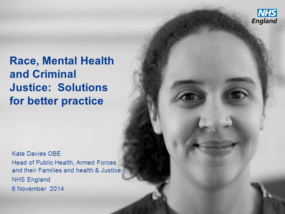 Race, Mental Health and Criminal Justice: Solutions for better practice