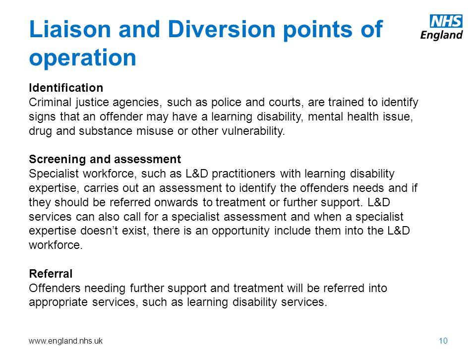 Liaison and Diversion points of operation