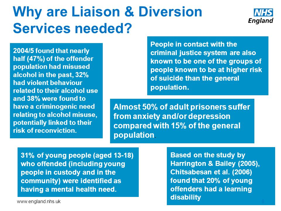 Why are Liaison & Diversion Services needed
