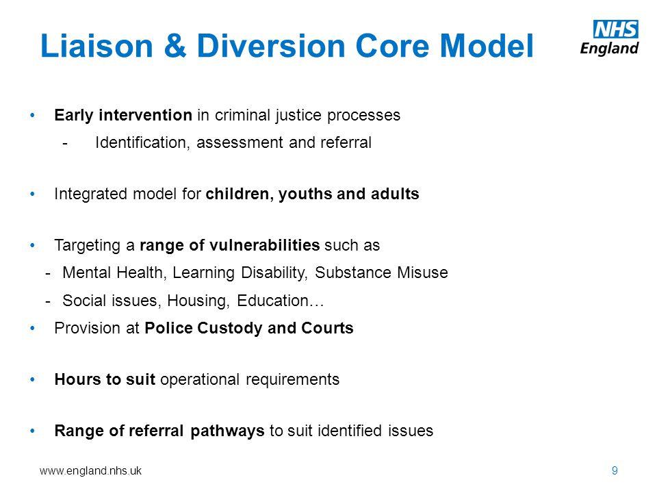 Liaison & Diversion Core Model