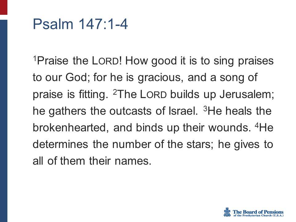 Psalm 147:1-4