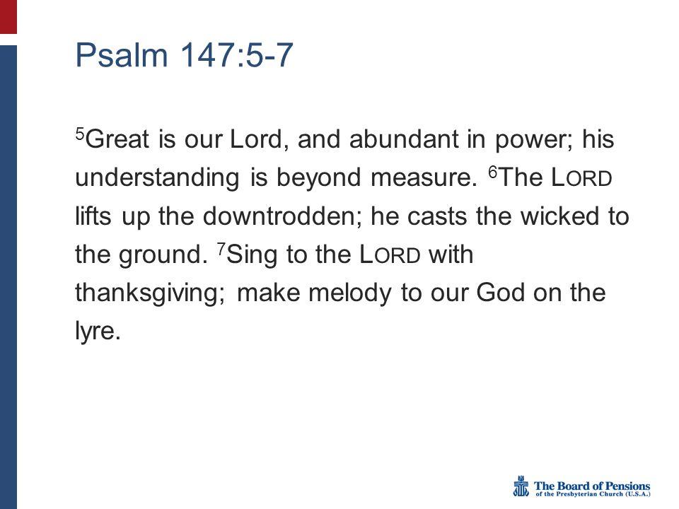 Psalm 147:5-7