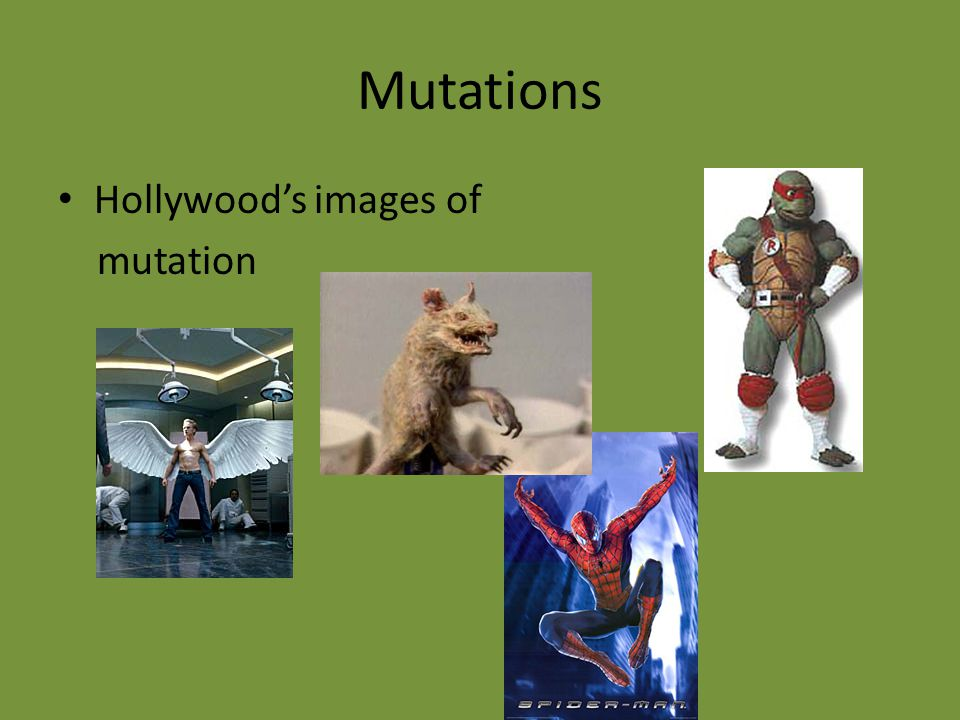 Mutations Hollywood's images of mutation