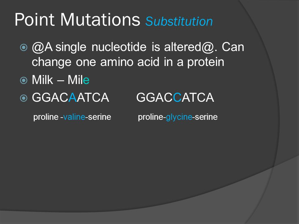 Point Mutations Substitution