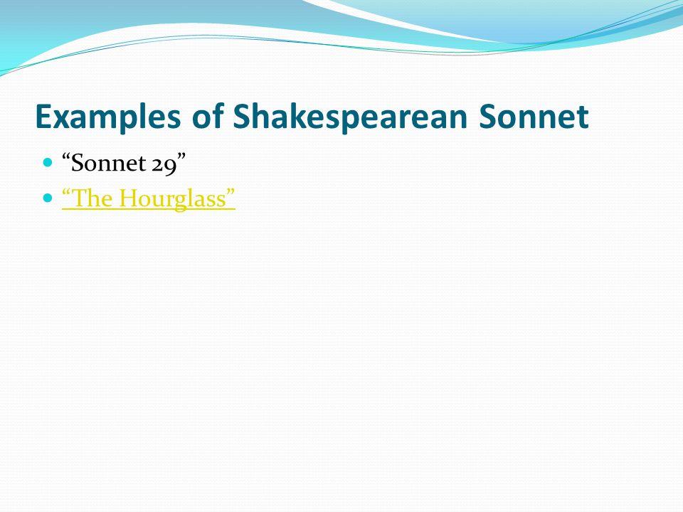Examples of Shakespearean Sonnet