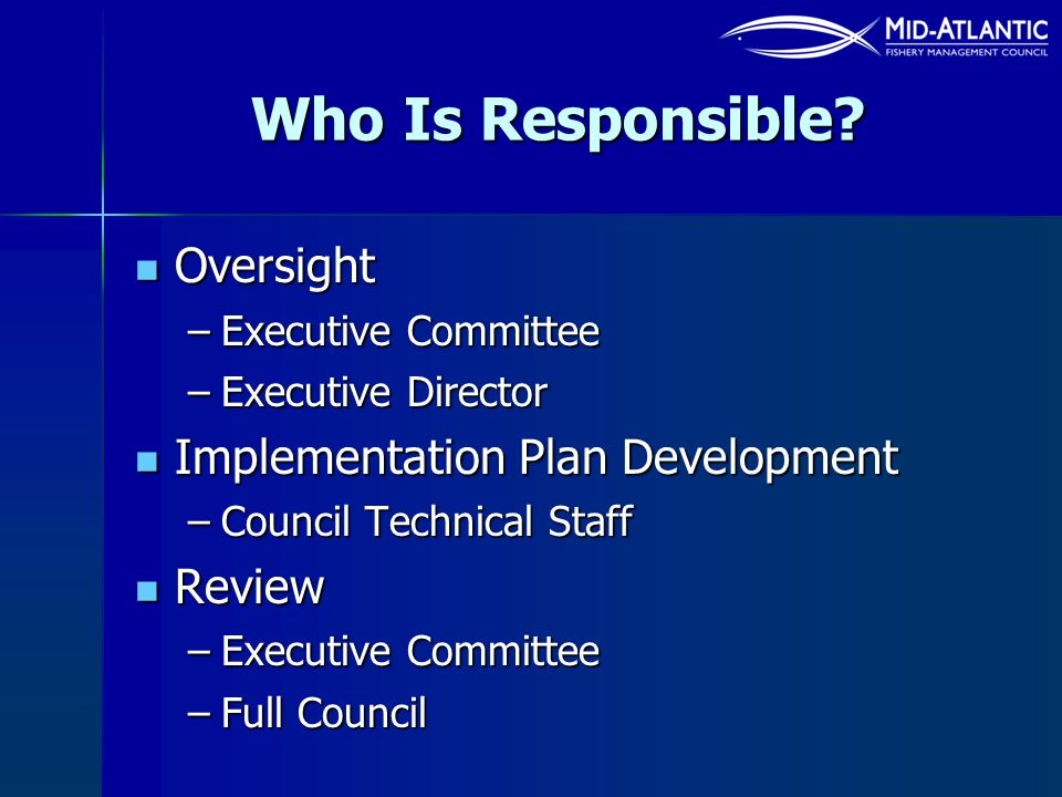 Who Is Responsible Oversight Implementation Plan Development Review