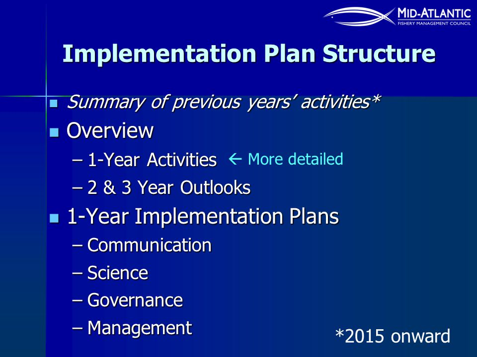 Implementation Plan Structure
