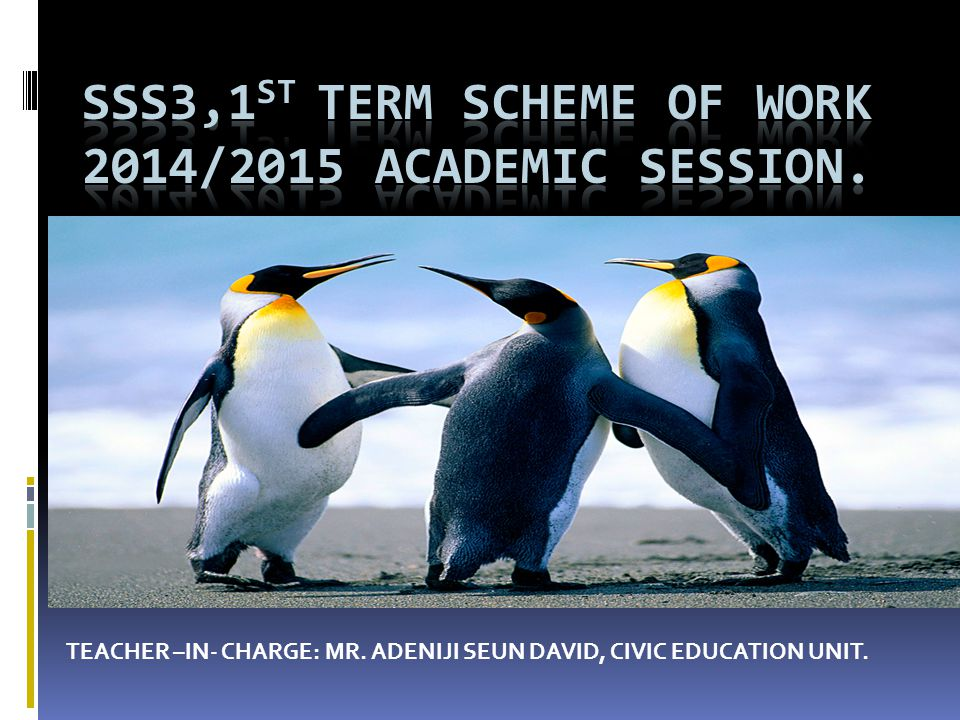SSS3,1ST TERM SCHEME OF WORK 2014/2015 academic session.