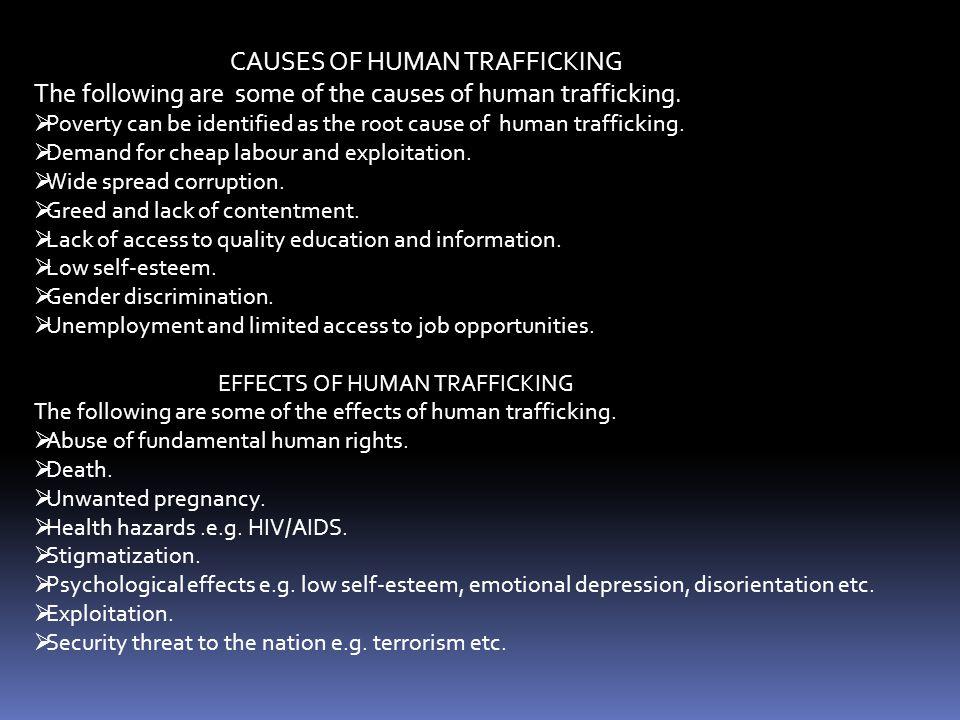 CAUSES OF HUMAN TRAFFICKING