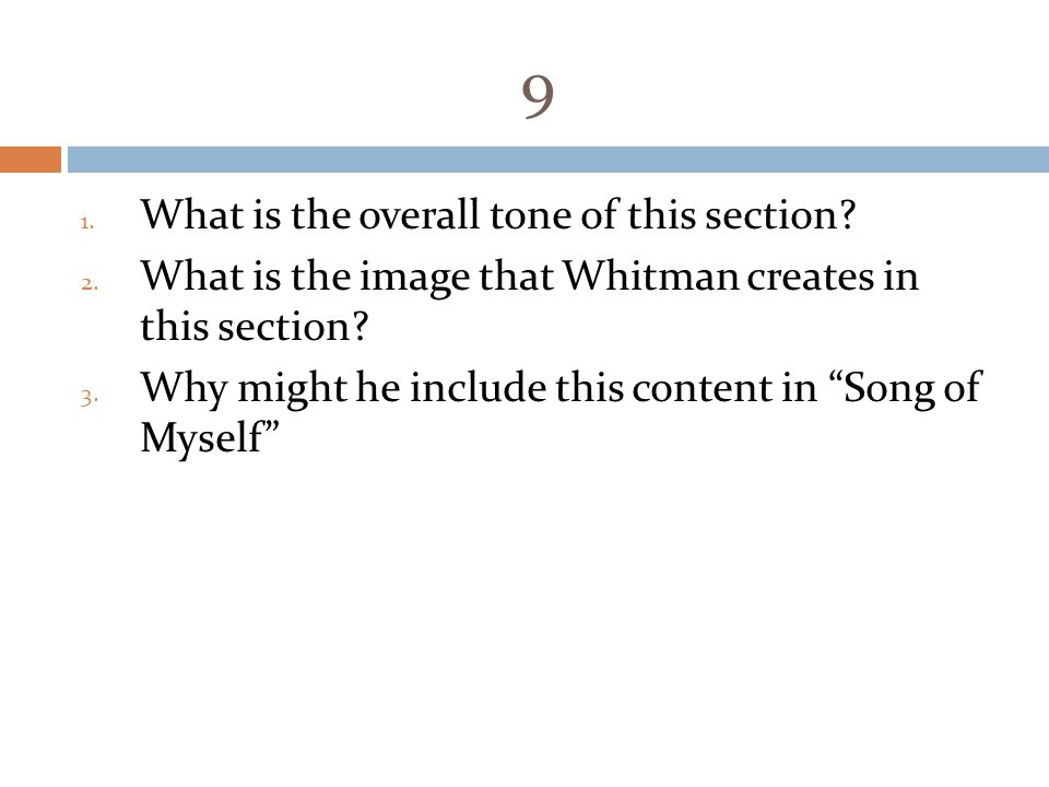 9 What is the overall tone of this section