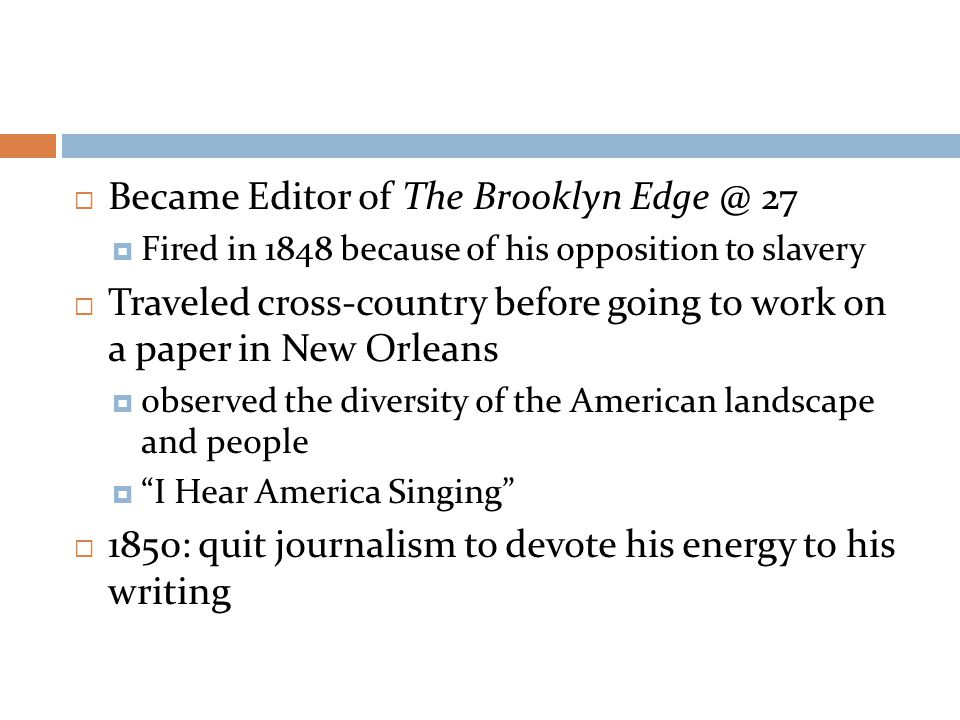 Became Editor of The Brooklyn Edge @ 27