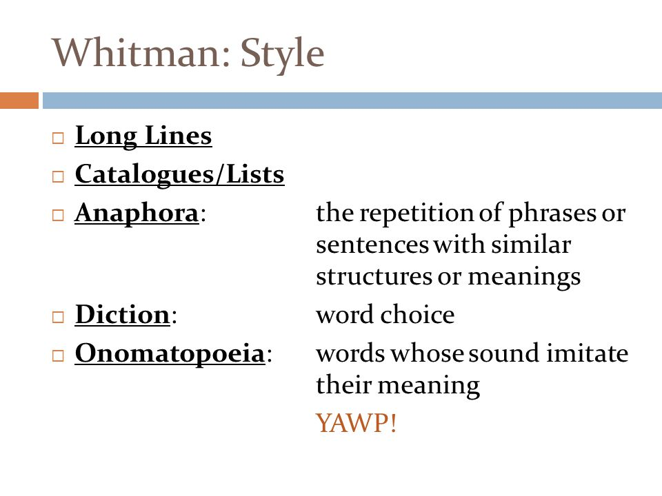 Whitman: Style Long Lines Catalogues/Lists
