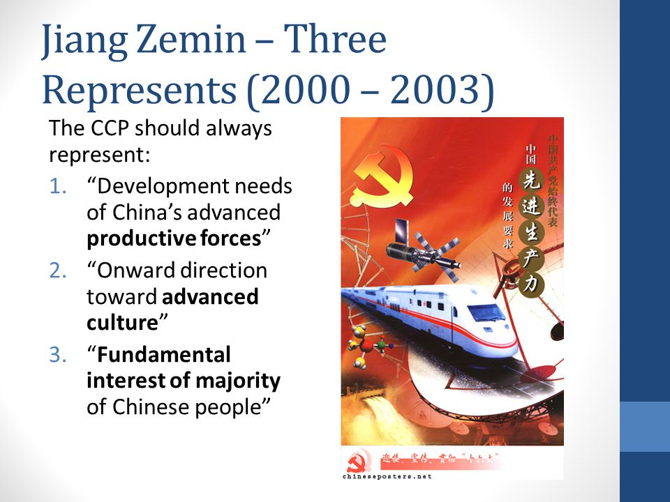 Jiang Zemin – Three Represents (2000 – 2003)