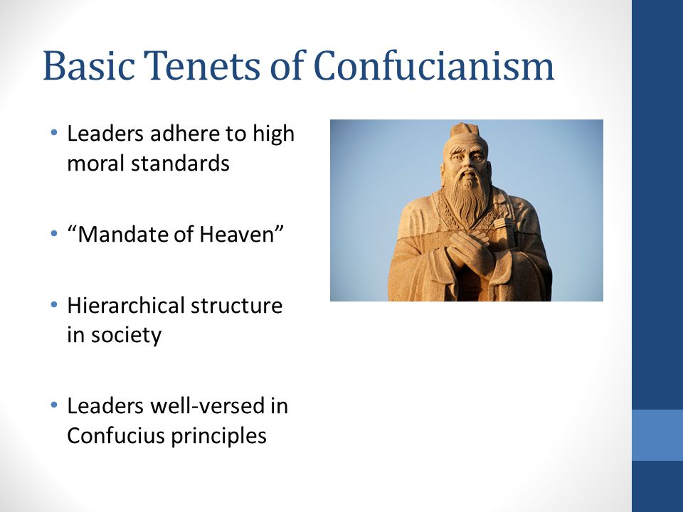 Basic Tenets of Confucianism