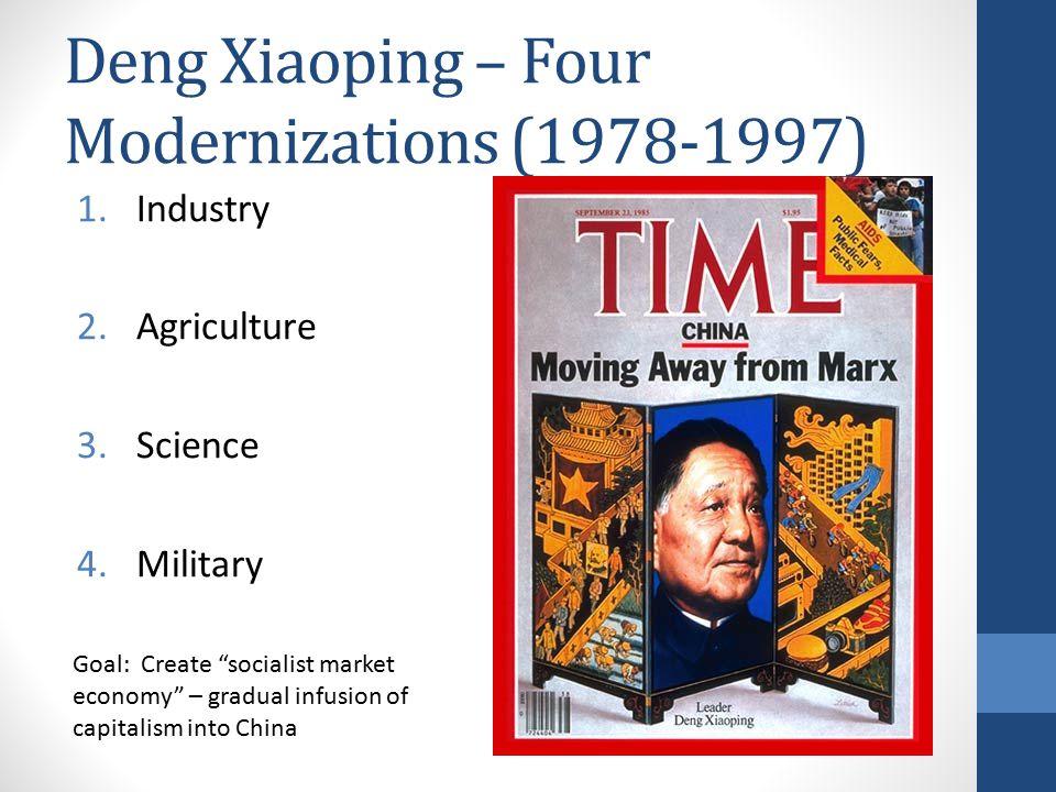 Deng Xiaoping – Four Modernizations (1978-1997)
