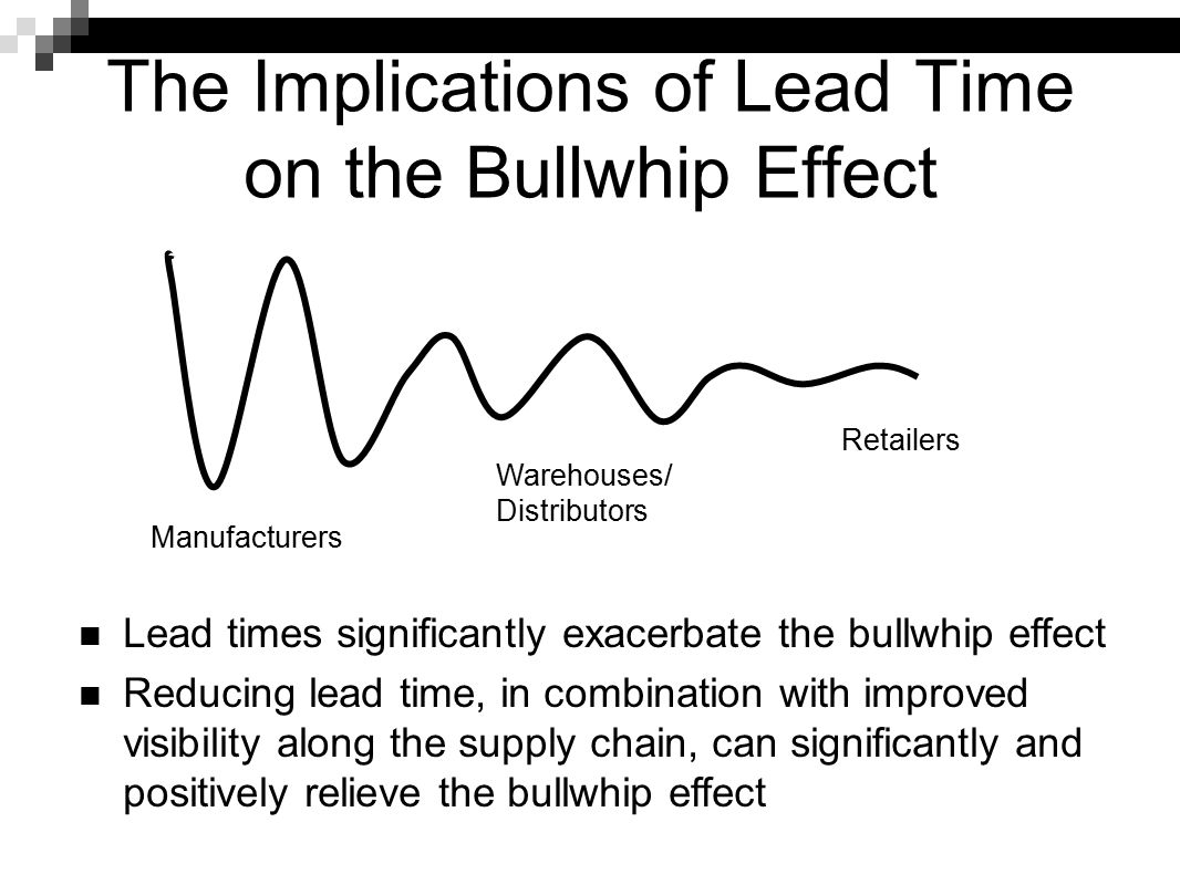 The Implications of Lead Time on the Bullwhip Effect
