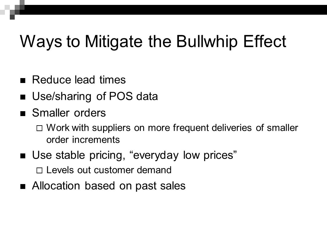 Ways to Mitigate the Bullwhip Effect