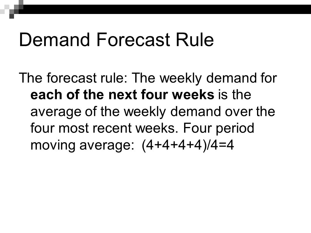 Demand Forecast Rule