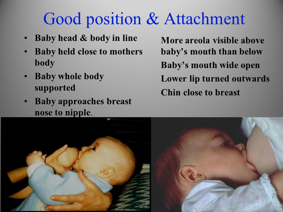 Good position & Attachment