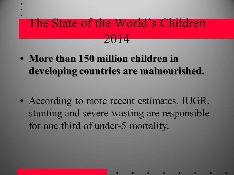 The State of the World's Children 2014