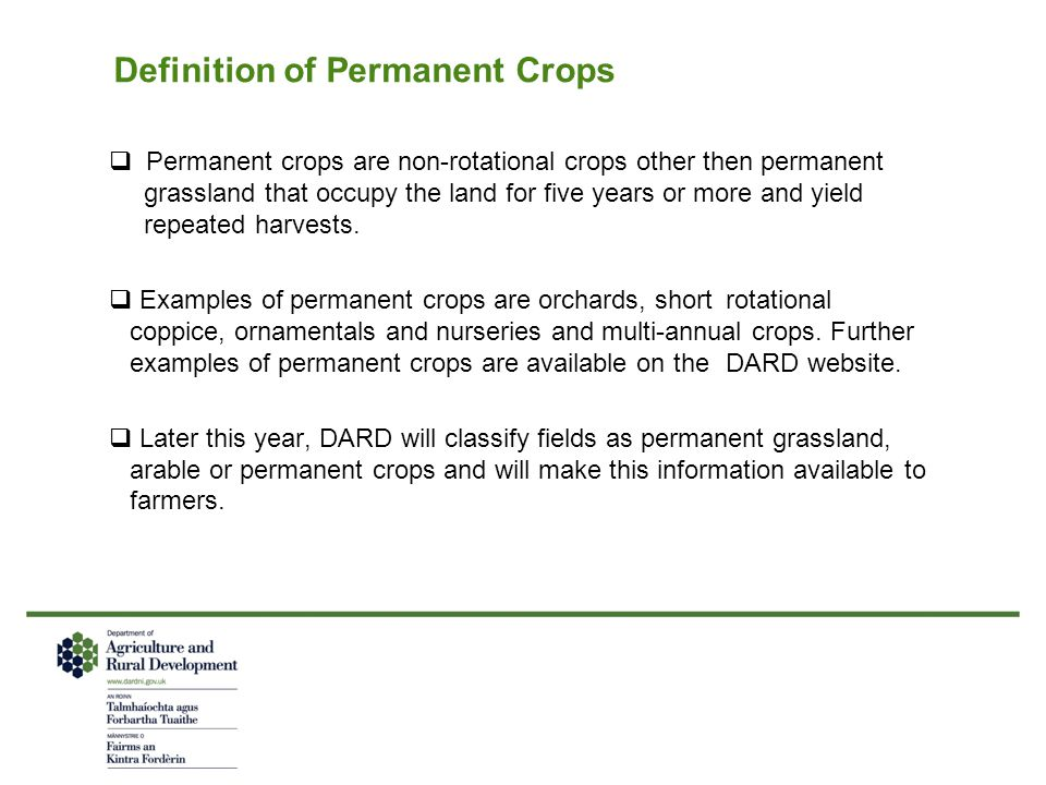 Definition of Permanent Crops