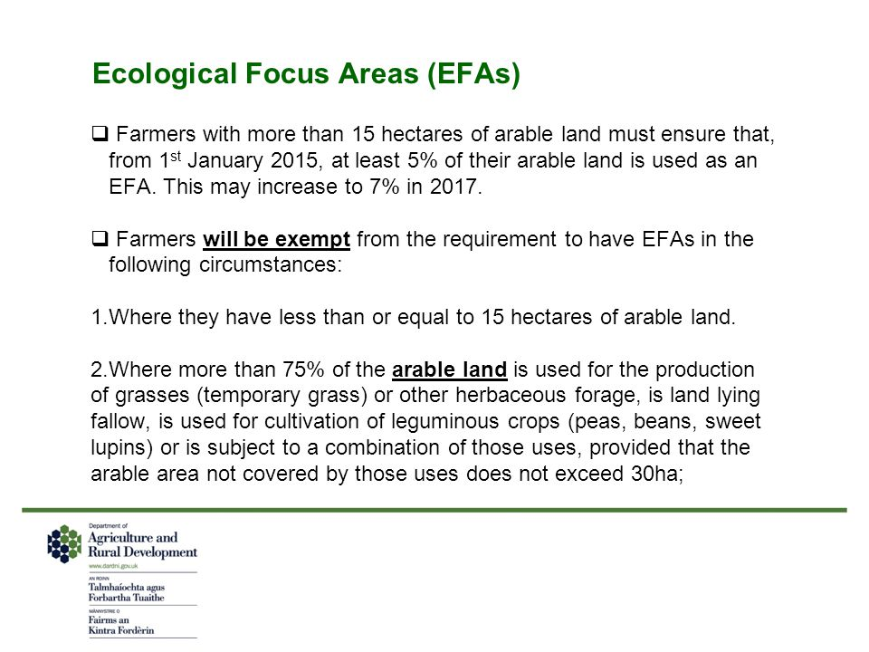 Ecological Focus Areas (EFAs)