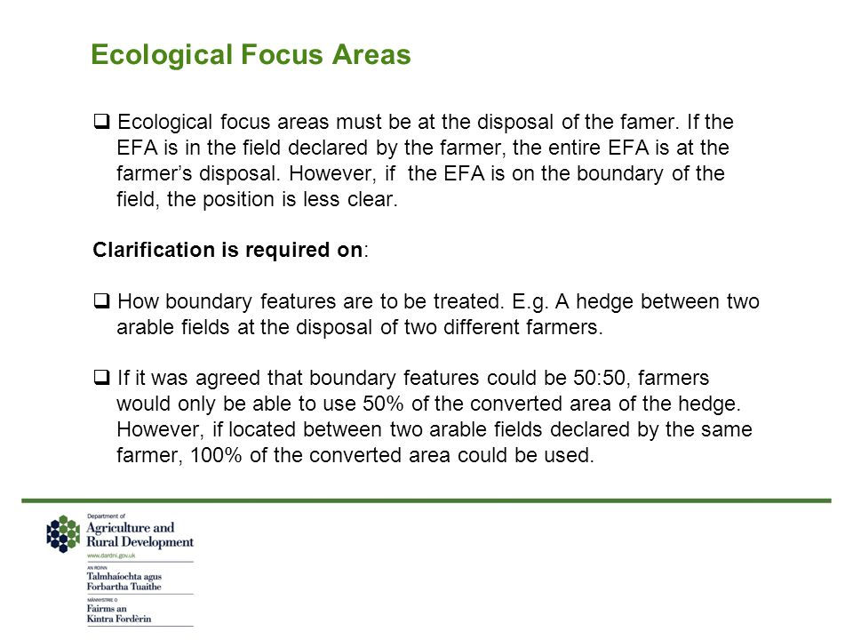 Ecological Focus Areas