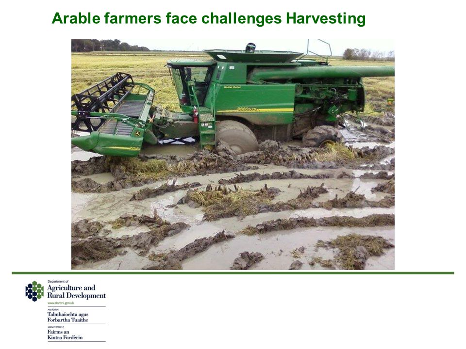 Arable farmers face challenges Harvesting