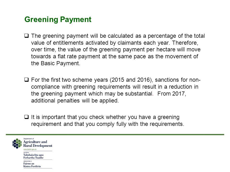 Greening Payment