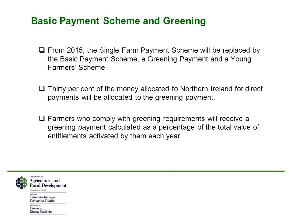 Basic Payment Scheme and Greening